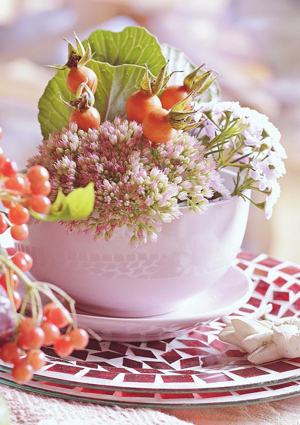 Selbermachen Dekoration mit Blumen